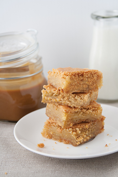 Blondies al caramello