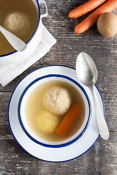 Matzo balls soup