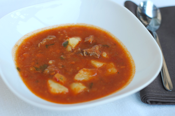 Goulash Suppe Summer Dinner