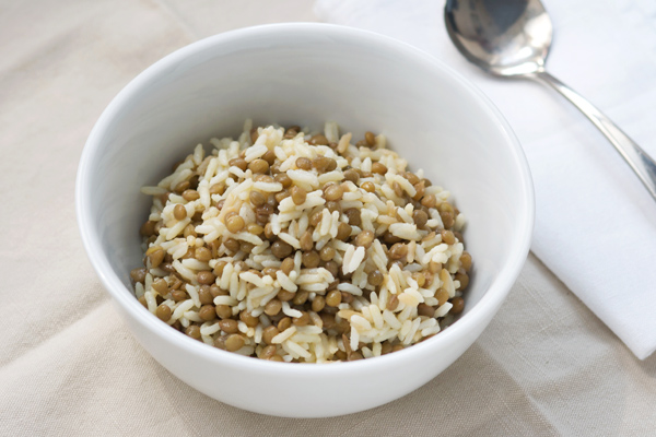 Mjadra: riso libanese con lenticchie