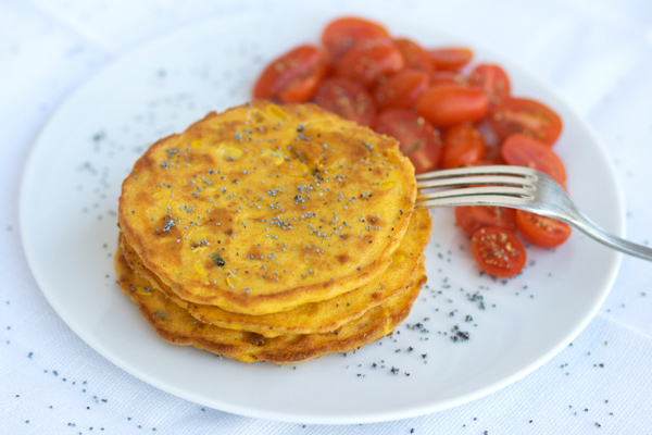 Corn fritters with poppy seeds for a summer fest