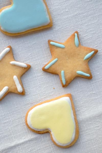 Biscotti con glassa di zucchero facile