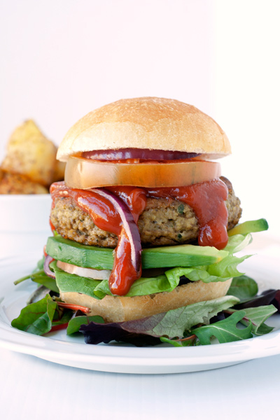 Veggie lentil burger