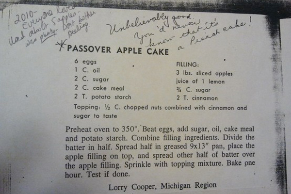 Torta di mele e cannella per Pesach