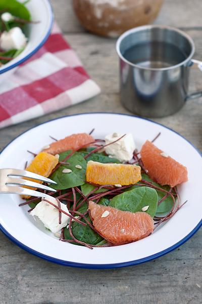 Insalata di spinacini e agrumi