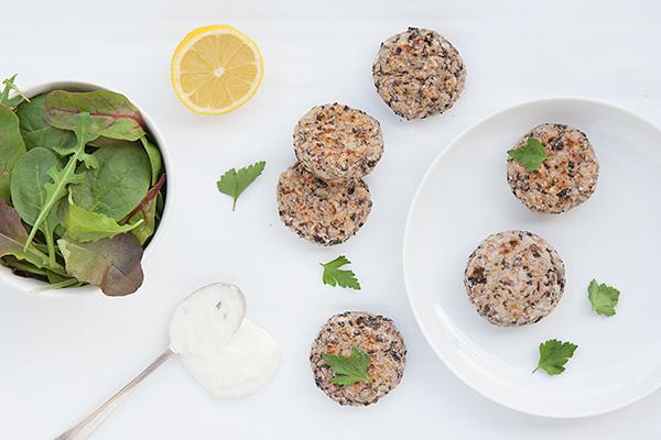 Polpette di riso integrale e fagioli neri