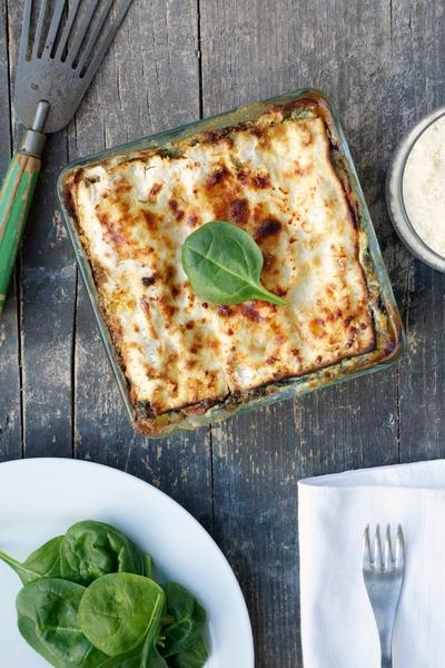 Lasagne vegetariane di pane azzimo