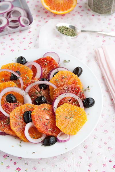 Insalata di arance rosse