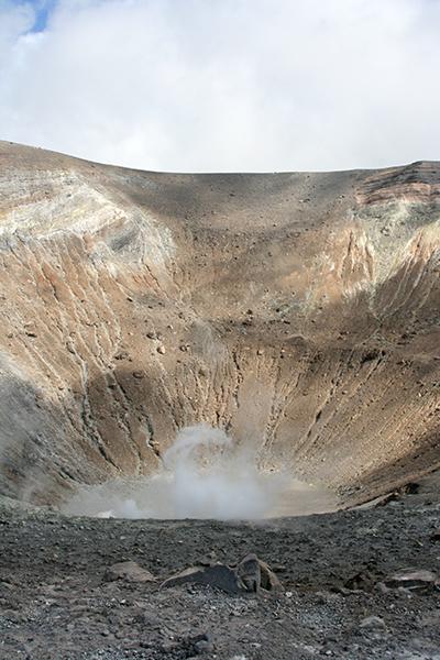 Vista del vulcano