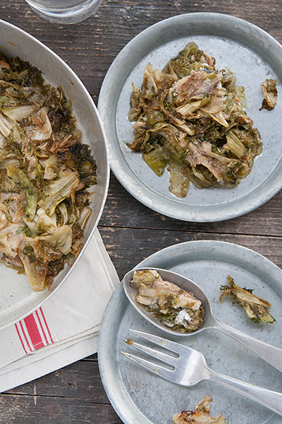 Baked anchovies with endive