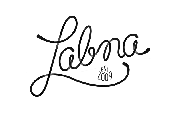 Logo di Labna nero su fondo trasparente