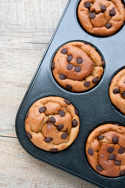 5 ingredients GF peanut butter muffin