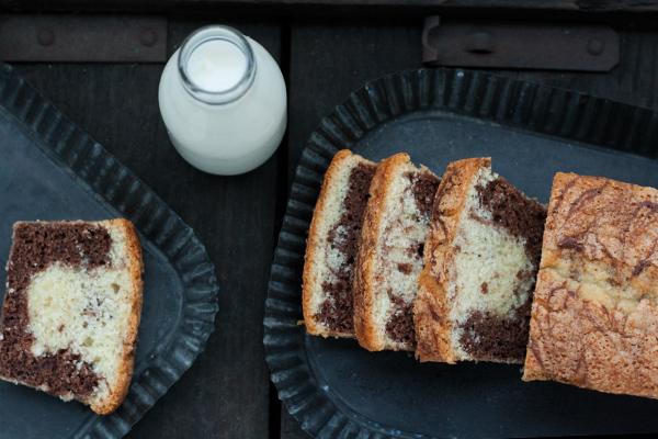 Torta light marmorizzata