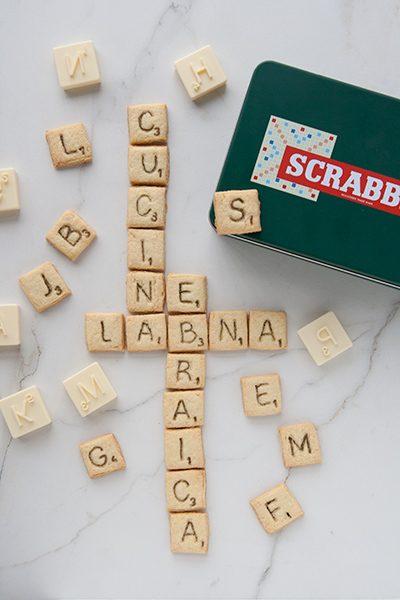 Scrabble cookies al limone (biscotti con le lettere di Scarabeo)