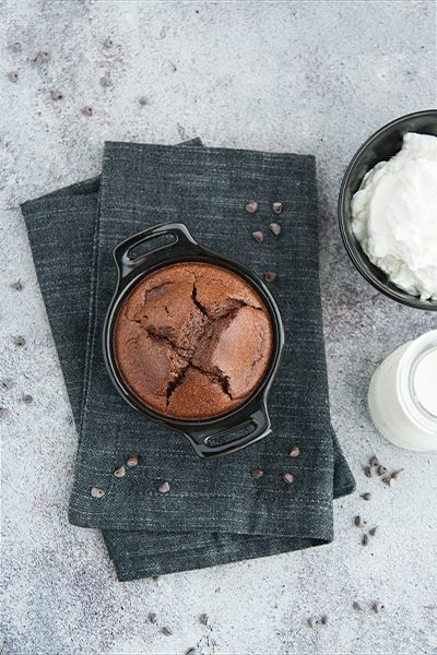 Soufflé al cioccolato senza farina e senza zucchero