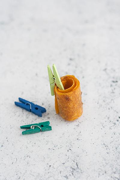 Fruit roll-ups: rotelle di frutta essiccata