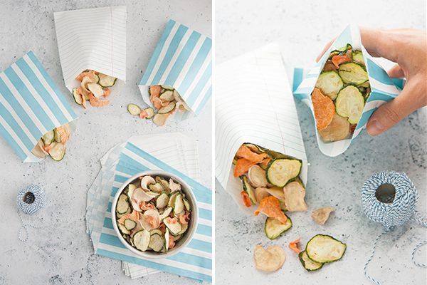 Chips di verdura essiccata
