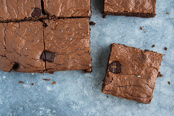 Chocolate rye brownies